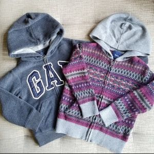 GAP Bundle! Boys Hooded Fleece & Cardigan (4-5)
